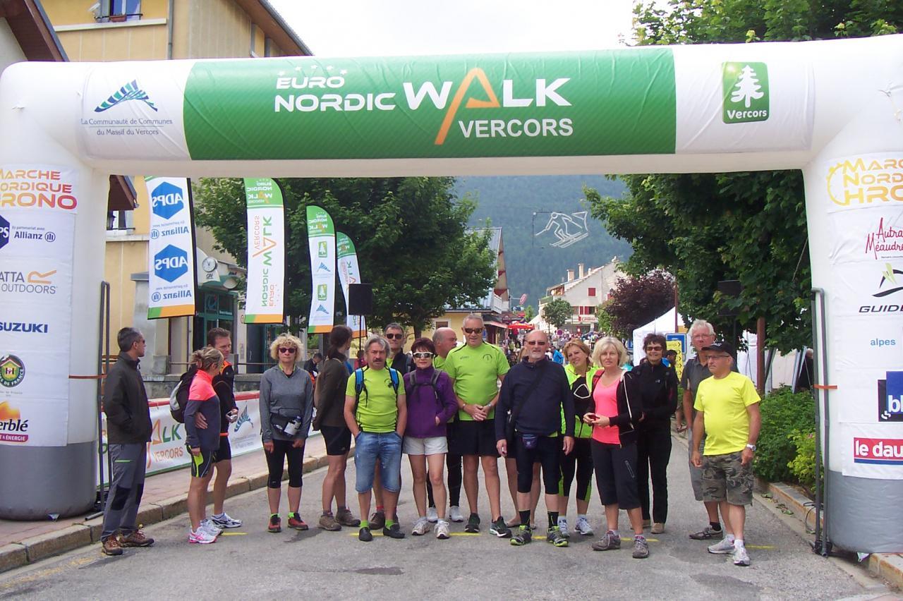 Les participants sur la ligne d'arrivée