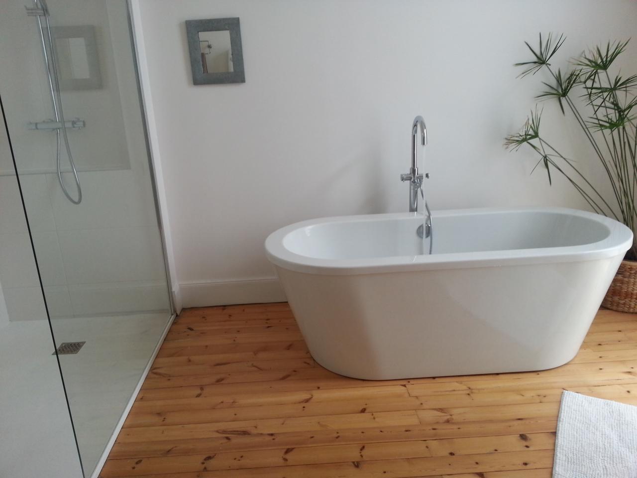 une des salles de bain du gite
