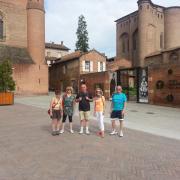 devant le musée Toulouse Lautrec