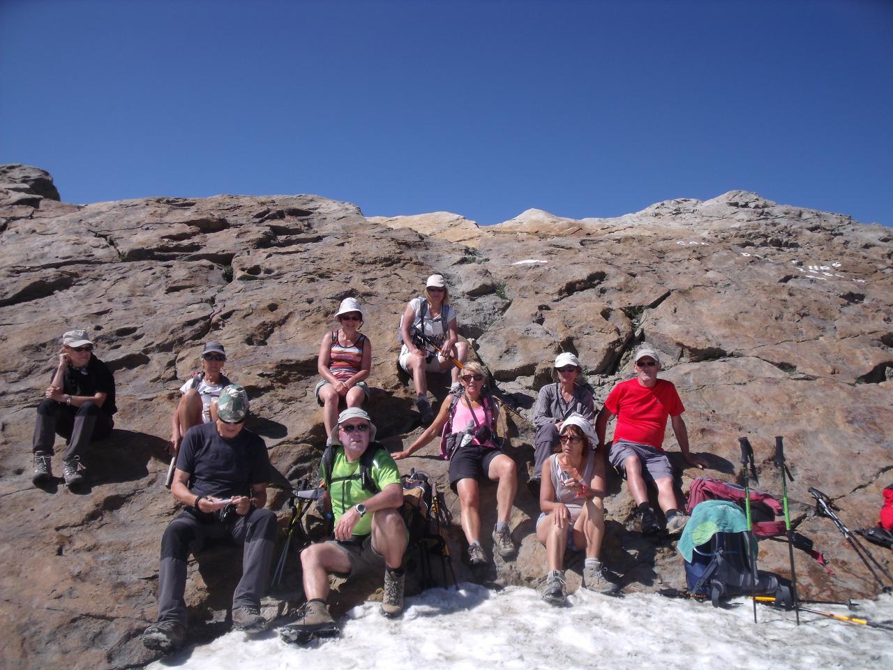 Pause au Col des Fours 2685m