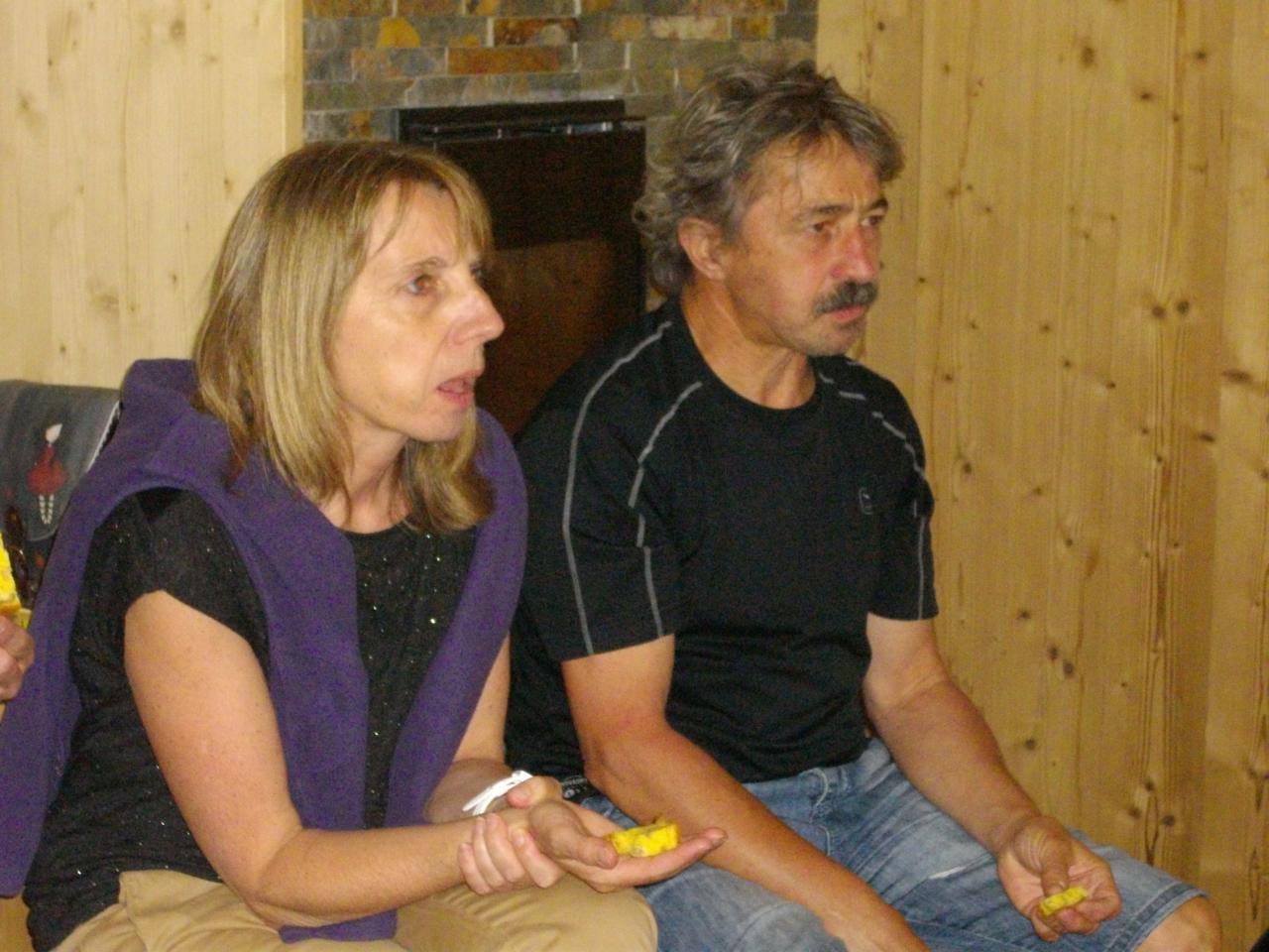 Pascale et Gérard en plein effort