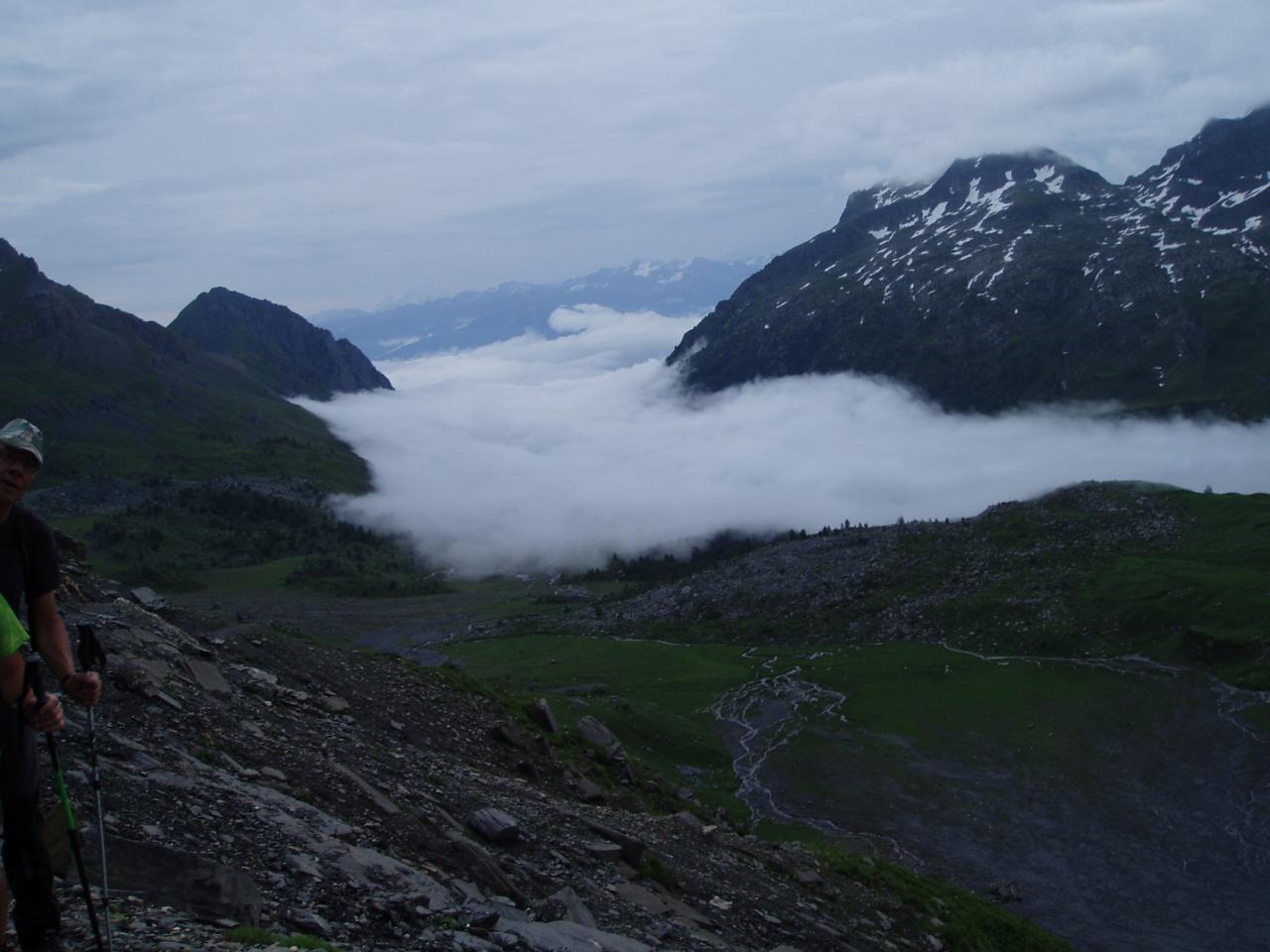 le lac sous les nuages
