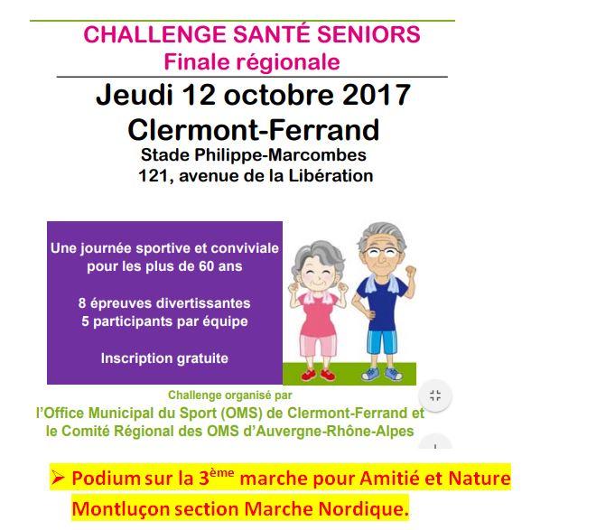 Challenge Santé Seniors - Finale régionale