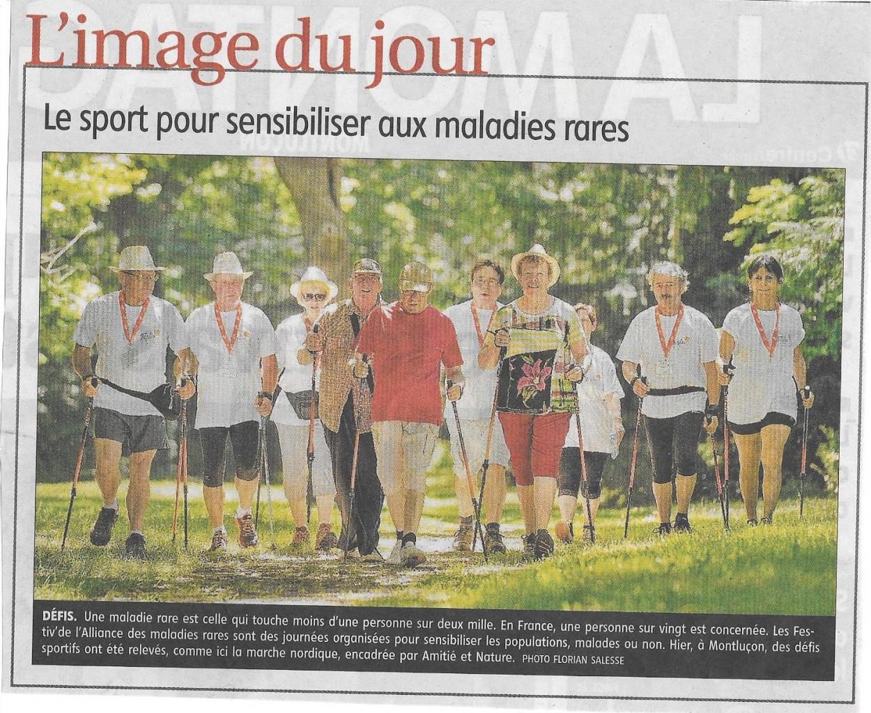 Participation à la journée nationale Les Festiv de l'Alliance maladies rares - Montluçon